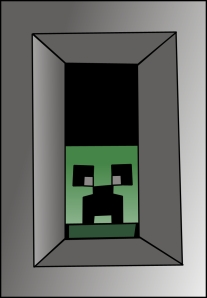 Creeper at window