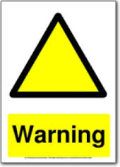 Beware of yellow triangles?