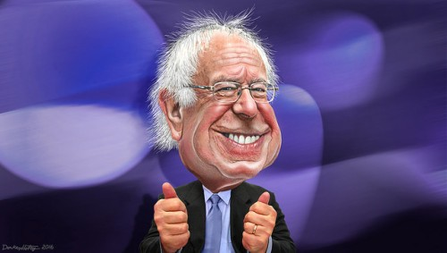 Bernie Sanders - Caricature by DonkeyHotey (CC BY 2.0)