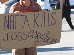 NAFTA Kills jobs across borders by Billie Greenwood (CC BY 2.0)