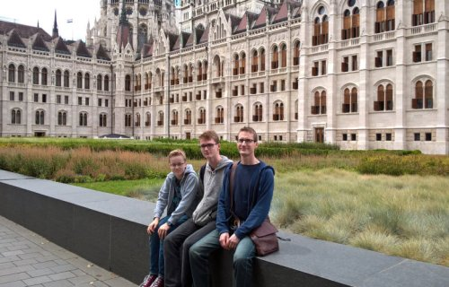 Parliament Building with Steve and the boys