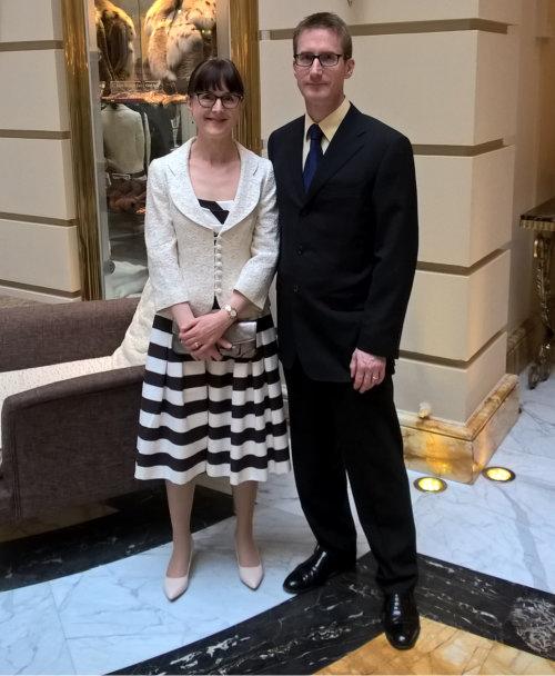 Steve and Margarita at the wedding